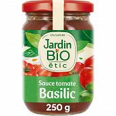 Jardin bio étic sauce tomate basilic bocal 250g
