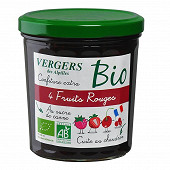 Vergers des Alpilles confiture extra 4 fruits rouges  bio 370g