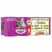 Whiskas boîtes pour chat en gelée la carte mer et campagne 8x390g