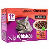 Whiskas selection viandes sauce 12 x 100g