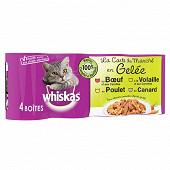 Whiskas boîtes pour chat en gelée la carte du marché 4x390g