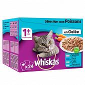 Whiskas sachets fraîcheur pour chat en gelée le filet du pêcheur 24x100g