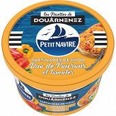 Petit navire les taritinables de thon duo poivrons tomates 125g