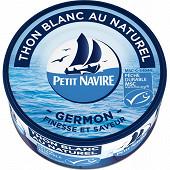 Petit navire thon blanc naturel msc 1/5 112g