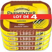 Parmentier sardines entières grillées nature lot 4X100G