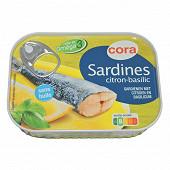 Cora sardines citron basilic 135g