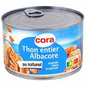 Cora thon au naturel  280g