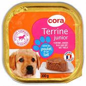 Cora terrine junior chien richr en poulet et au lait 300g