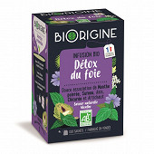 Biorigine infusion détox du foie biorigine 20 sachets 29g