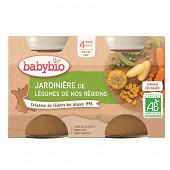 Babybio jardinière légumes sans gluten dès 4 mois 2x130g