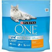 PURINA ONE Light Croquettes pour chat adulte au Poulet et au Blé - 1,5kg