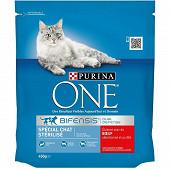 PURINA ONE Croquettes pour chat adulte stérilisé au B?uf et au Blé - 450 g