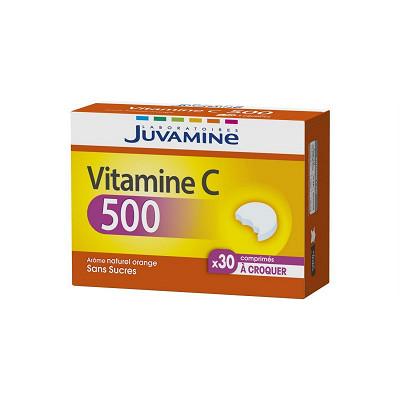 Juvamine Juvamine vitamine C500 30 comprimés à croquer 64g