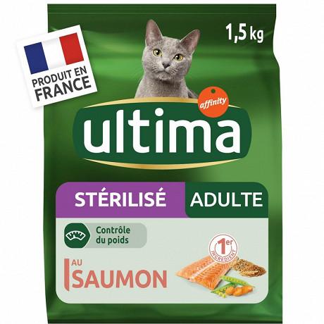 Ultima chats stérilisés au saumon et à l'orge 1,5kg