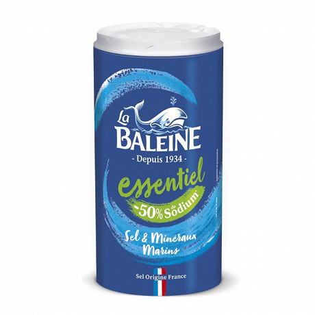 La Baleine boite verseuse sel fin essentiel 350g