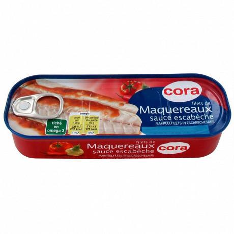 Cora filets de maquereaux sauce escabèche 1/4 169g
