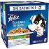 FELIX sachets pour chat adulte Tendres Effilés en Gelée Viandes-Poissons avec Légumes 24x100g