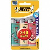 Briquet j26 decor blister 2+1 offert
