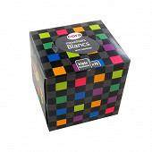 Cora boîte cube mouchoirs blancs triple épaisseur x70