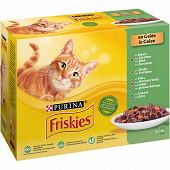 FRISKIES Sachets fraîcheur pour chat adulte aux Viandes & Légumes en Gelée - 12 x 85 g