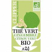 Clipper thé vert citron vert gingembre 35g