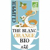 Clipper thé blanc orange 34g