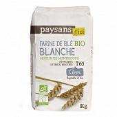 Paysans d'ici farine de blé T65 bio 1kg