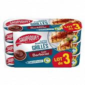 Saupiquet filets de  maquereaux grillés sauce barbecue 3x120g tracab