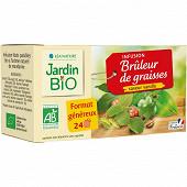 Jardin bio infusion brûleur de graisse bio étui + 24 sachets 36g