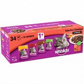 Whiskas sf selection classique sauce 4 variétés chat adulte stérilisé