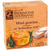 Patrimoine gourmand mini gratin pdt reblochon 4x100g