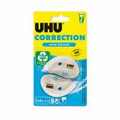 Uhu - 2 mini roller correcteur 6 mètres x 5 mm