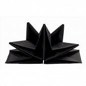 Mesa bella 12 serviettes pré-pliées noir