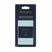 Waterman - 8 cartouches longues encre bleue effaçable