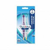 Papermate - 2 stylos plumes mini noir/bleu