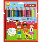 Stabilo - Pochette de 20+4 crayons de couleur color prix choc