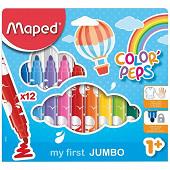 Maped 12 feutres color'peps maxi