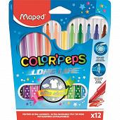 Maped 12 feutres color' peps en pochette carton