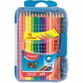 Maped 15 crayons de couleur color'peps boîte plastique