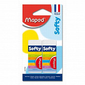 Maped 2 gommes softy extra douce