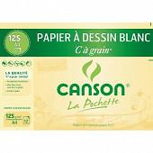 Canson - Pochette à grain 12 feuilles a4 125 grammes