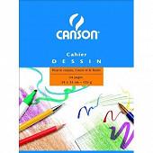 Canson - Cahier à grain 24 pages 24x32 cm 125 grammes uni 200027109