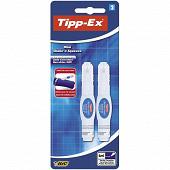 Bic 2 mini stylos correcteur tipp-ex shake n'squeeze pointe métal