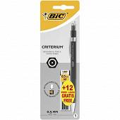 Bic porte mine critérium 0.5 mm + 12 mines offertes