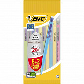 Bic matic combos porte mines 0.7 mm 8+2 offerts