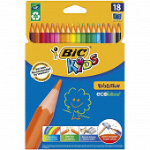 Bic kids évolution étui carton suspendu x18 couleurs assorties
