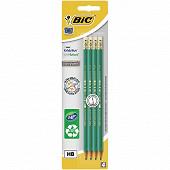 Bic 4 crayons graphite écolution évolution bout gomme