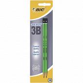 Bic lot de 2 crayons graphite critérium 3b