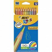 Bic tropicolors étui carton de 12 crayons de couleur