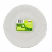 Cora assiettes x50 blanches 18cm